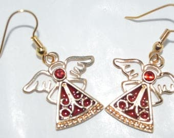 Angel Earrings - Red