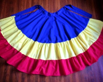 Tri-Color Custom Dance Skirt: various colors available