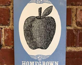 Appalachian Homegrown Letterpress Print - Apple
