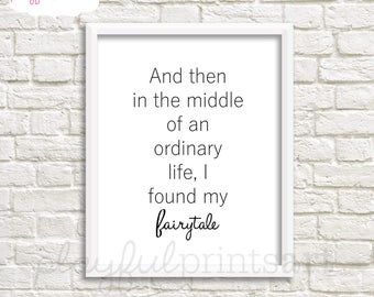 Fairytale Print, 8x10, Instant Download