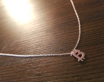 Bitcoin Charm Necklace