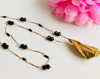 Titanium quartz, Quartz necklace, quartz pendant necklace, long necklace, long quartz necklace, necklace with stones,crystal quartz necklace