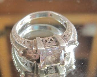 H-20 Vintage Ring 925 silver size 6 1/2
