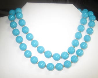0-48 Vintage Necklace 28 in long beads