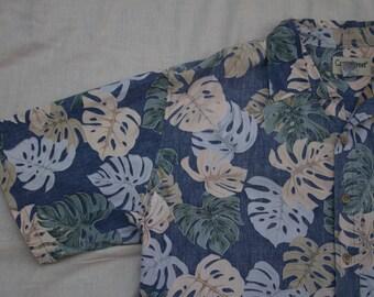 Hawaiian Leaves Shirt XXL