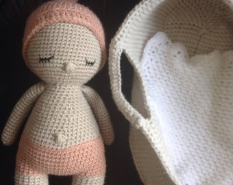 My belly button crochet baby and her basket