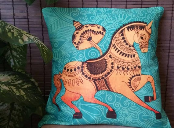 Digital print pillow, ethnic cushion cover, xmas gift for her, Boho cushion cover, indian pillow cover, Bohemian Decor, animal print pillow