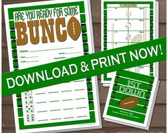 Football Game Day Bunco Set