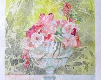 watercolor bouquet and transparency