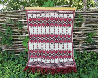 Ukrainian embroidery Vintage embroidery  Large embroidery Traditional folk Embroidery ornament Home decor Rustic embroidered