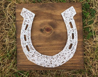 MADE TO ORDER Horseshoe String Art Board
