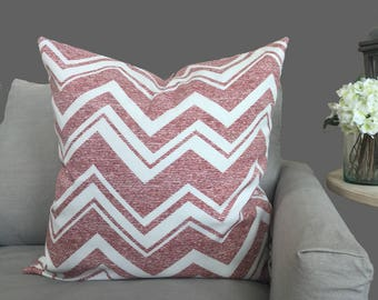 Red and White Striped Pillow Cover