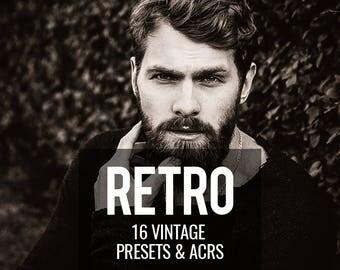 Lightroom Presets, Vintage Presets, Editing Presets, Lightroom Adobe Camera Raw, Photographers Presets, 16 Retro Effect Presets
