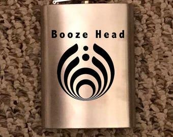 Booze Bass Head Flask