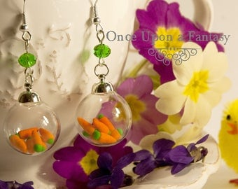 Bubbles of carrot earrings