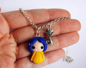 OUTLET! Sale! Simple bracelet Coraline fimo with dog