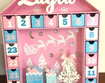Pink and blue Christmas Advent Calendar