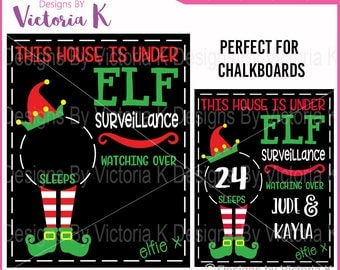Elf Chalkboard, Christmas svg, Christmas Countdown, Elf svg, Cut File, SVG, DXF Cut Files, Cricut Design Space, Vinyl Cut Files