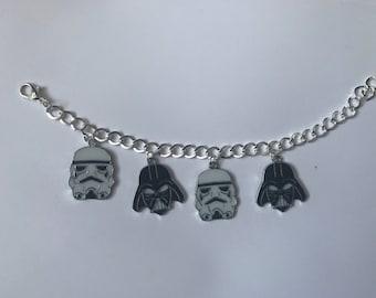 Silver Star Wars Charm Bracelet