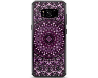 Samsung Galaxy S8 Case, Decorative Phone Case, Purple and Pink Mandala Design for Samsung Galaxy and iPhone