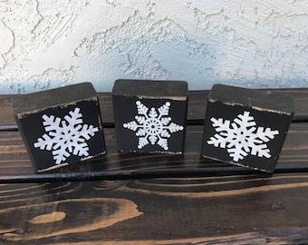 Snowflake Wood Blocks