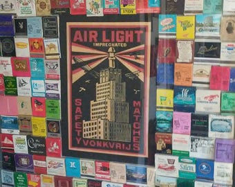 Eclectic Framed  Matchbook Collection 150 plus!