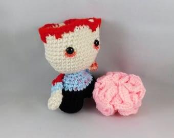 Zombie, amigurumi zombie, crochet zombie, plush zombie, handmade doll, horror doll, horror amigurumide zombie