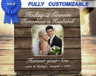 Wedding Gift For Parents Mother Of the Groom Gift from Groom Wedding Thank You Gift Today A Groom Tomorrow a Husband Parents Thank You Gift
