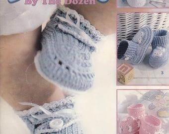 Baby Booties by the Dozen, Leisure Arts Crochet Pattern Booklet 3243