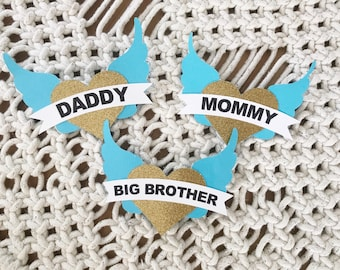 Rock a bye baby shower// Mommy pin// Daddy Pin// Baby shower pin