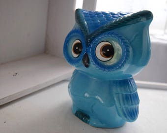 Blue Owl Ceramic Money Box