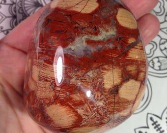Big Brecciated Red Jasper Palm/Display Stone