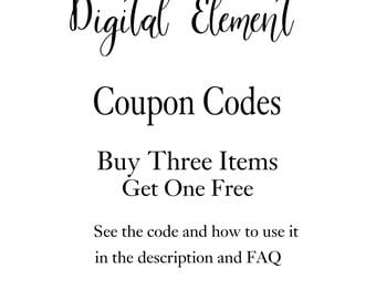 Coupon Codes: Buy 3 Get 1 of them FREE