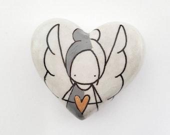 Personalised healing stone - in loving memory of - memorial stone - memorial gift - keepsake stone - sympathy gift - friendship stone -GD001