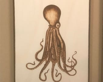 Vintage Octopus wall art plaque