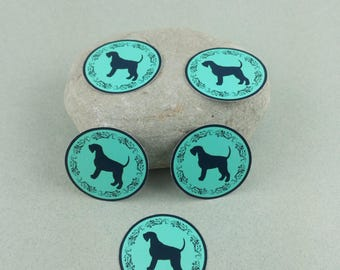 "Small sticker Kit ""Giant Schnauzer"" blue"