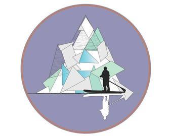 Iceberg Paddler Sticker