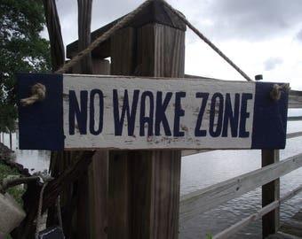 Custom No Wake Zone sign | Bedroom no wake zone sign | Bedroom decor | Guest bedroom sign | Custom colors bedroom wall no wake zone sign