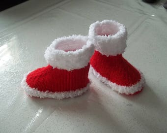 Santa boots Christmas Baby - 0-3months.