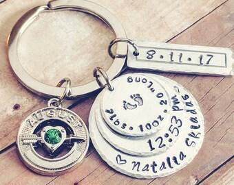 Baby keychain, Keychain baby, New grandma gift, Grandma keychain, Grandma to be gift, Baby keepsake, Keepsake gift, New grandparents