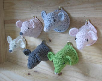 little mouse made hand crocheted in 100% cotton