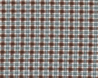 SALE** Pioneer Spirit - Per Yd - Maywood Studio - Blue/Brown Plaid/Weave by Tom Browning