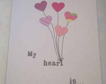Heart Balloon Valentines Card