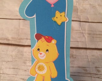 Care Bears Birthday Party Cake Topper