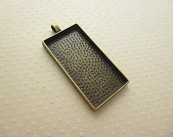 47 x 24 mm - pendant bronze rectangle cabochon 47 x 24 mm - SCABRB4824 9930