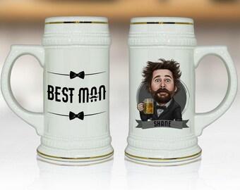 Groomsmen Gift, Personalized Groomsmen Gift Ideas, Best Man Gift Idea, Groomsmen Beer Stein, Will you be my Groomsman Proposal, Beer Mug