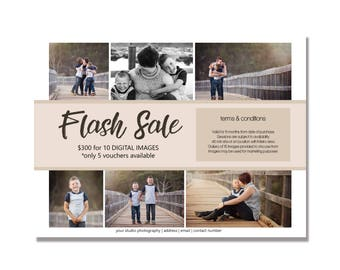 FLASH SALE marketing template for photoshop, INSTANT download, fully editable