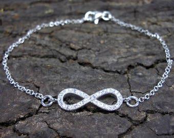 925 sterling silver Bracelet Infinity