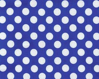 MICHAEL MILLER fabric CX1492-ROYA-D: Ta Dot royal blue with white pea / Cut 50x55 cm