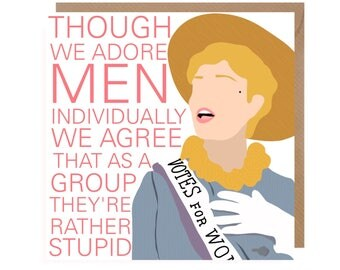 Mary Poppins Card • Musical Card • Vote card • Election Humour • Song Musical Card • Suffragette Card